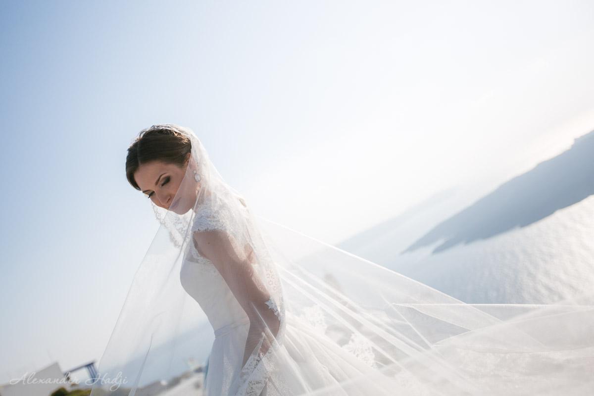 Santorini bride prep