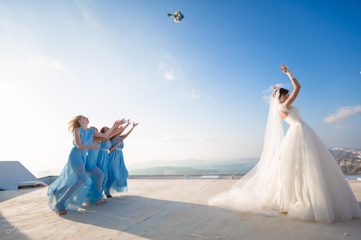 Santorini wedding ceremony photo shoot