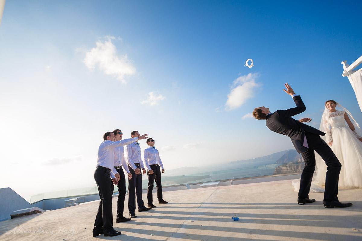Santorini wedding bachelor