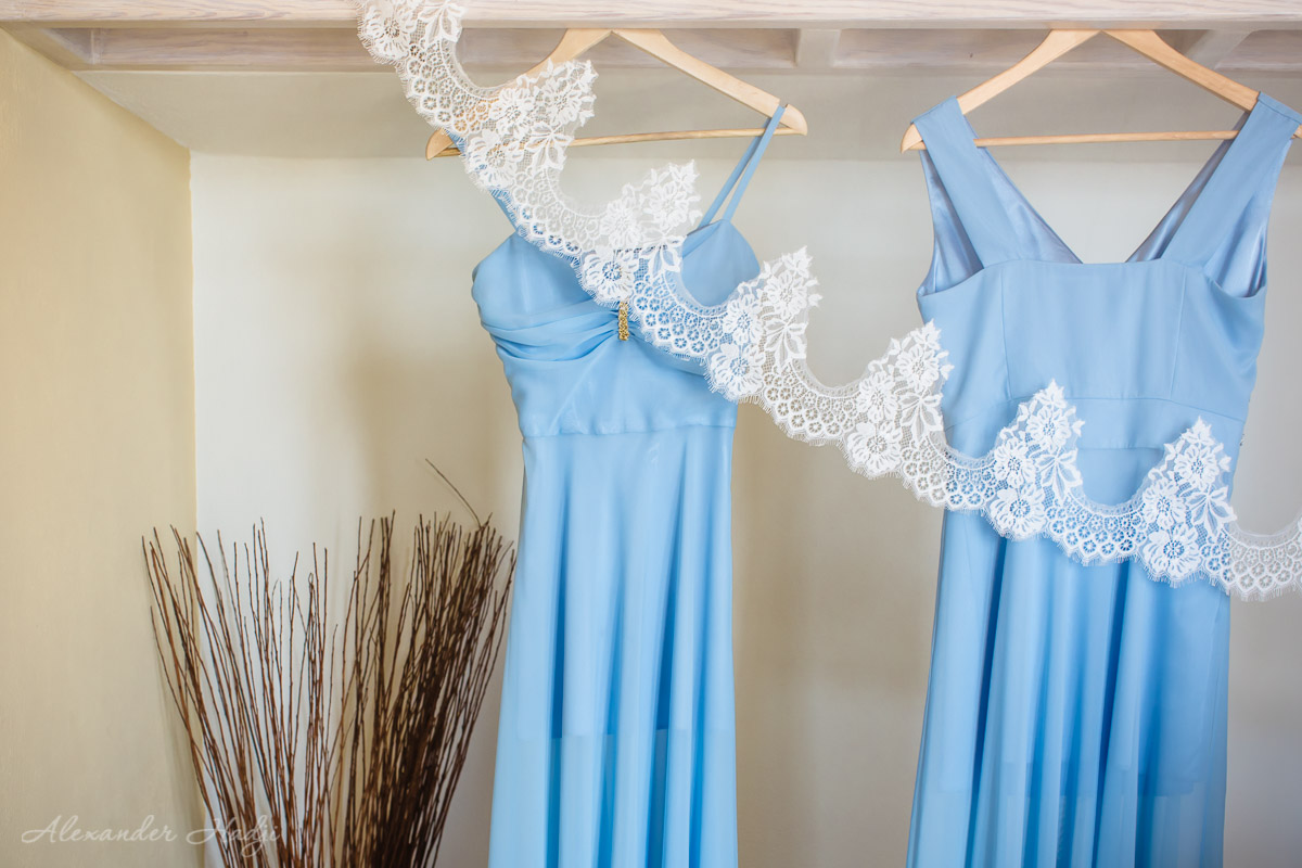 Wedding in Santorini dresses