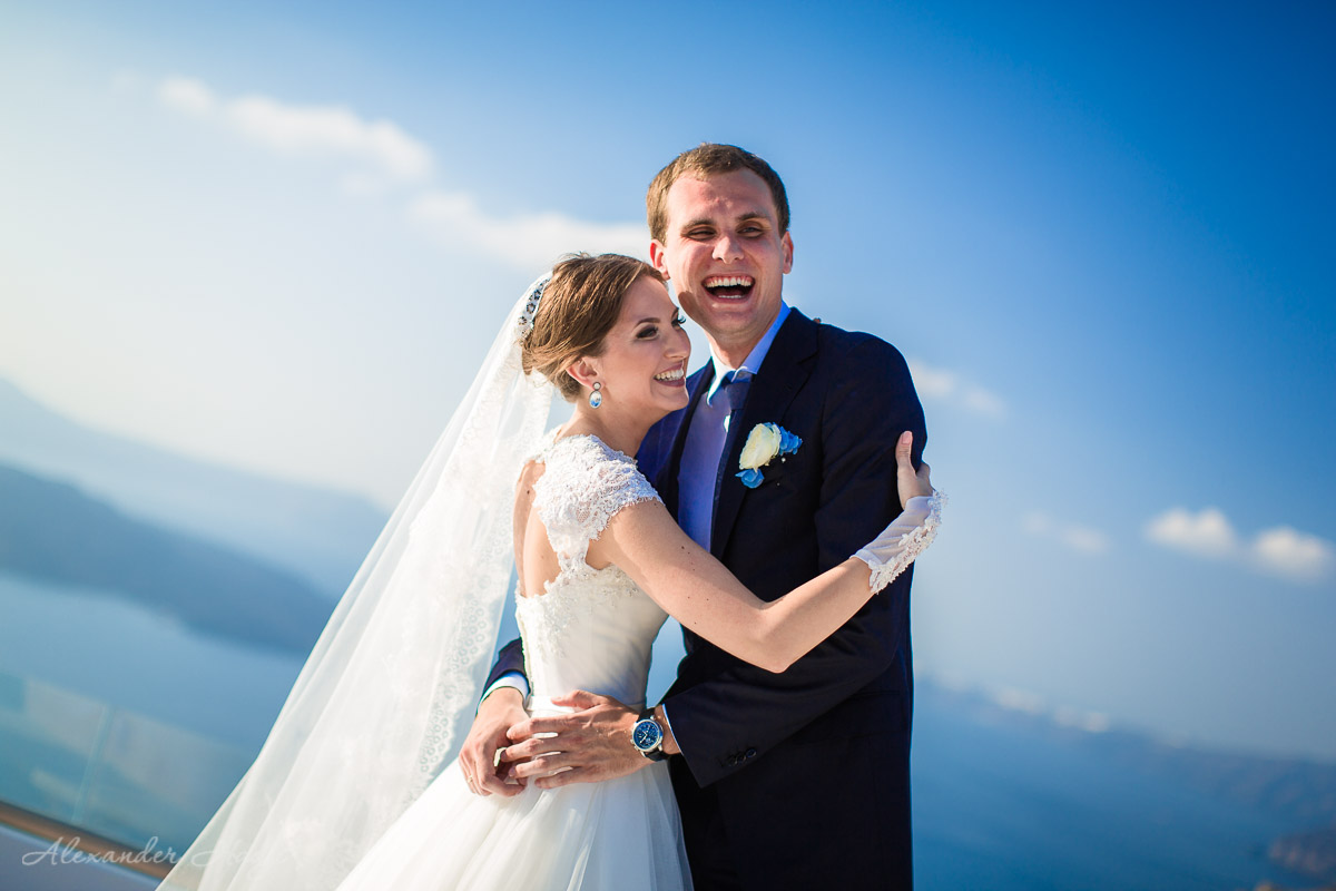 Santorini wedding photo shoot