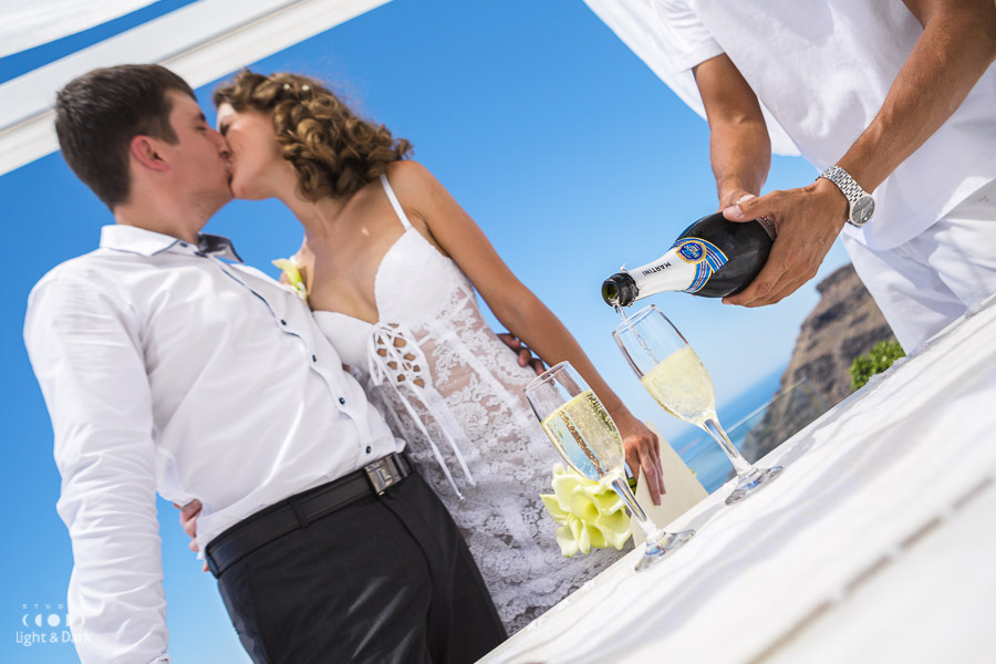 Wedding photography Santorini Greece