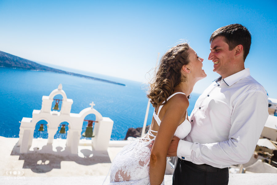Wedding photo shoot Santorini Oia