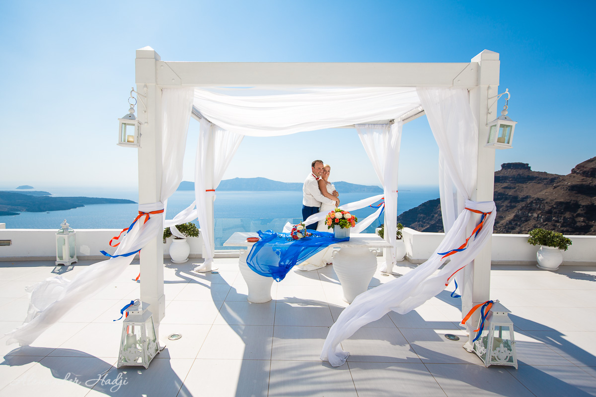 Santorini wedding Dana Villas