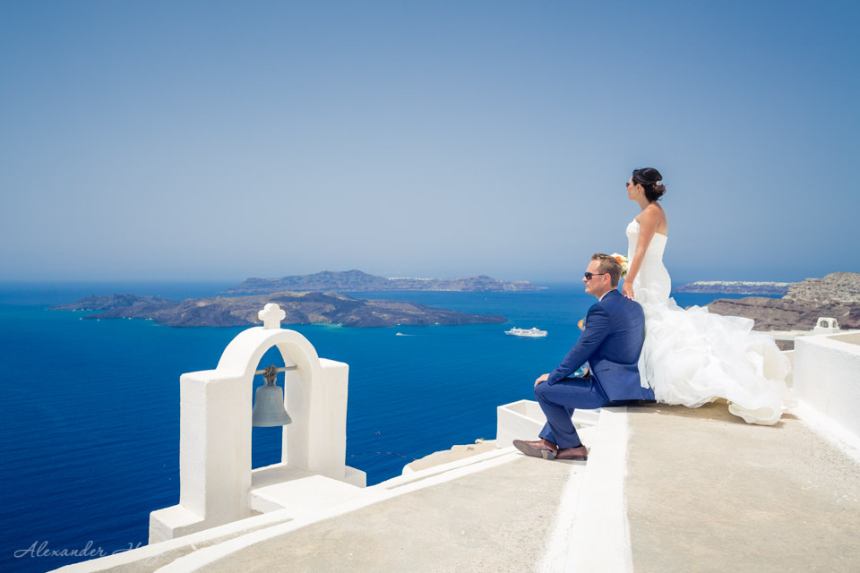 Santorini wedding photographer on Villa Irini Wedding Venue