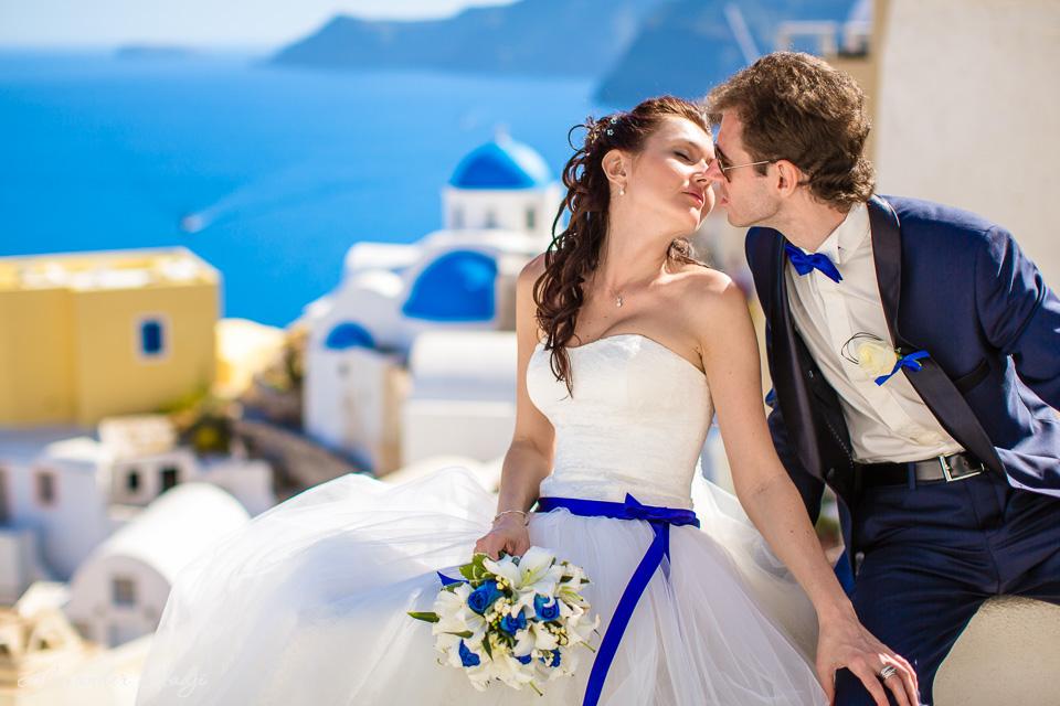 Hochzeitsfotograf für Hochzeit auf Santorini