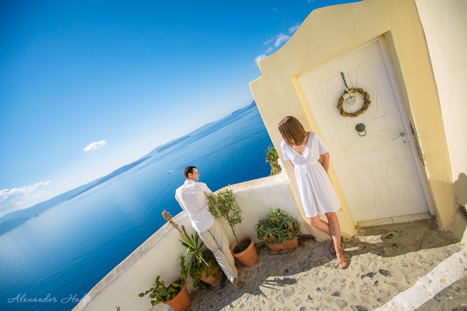 Santorini pre wedding photography
