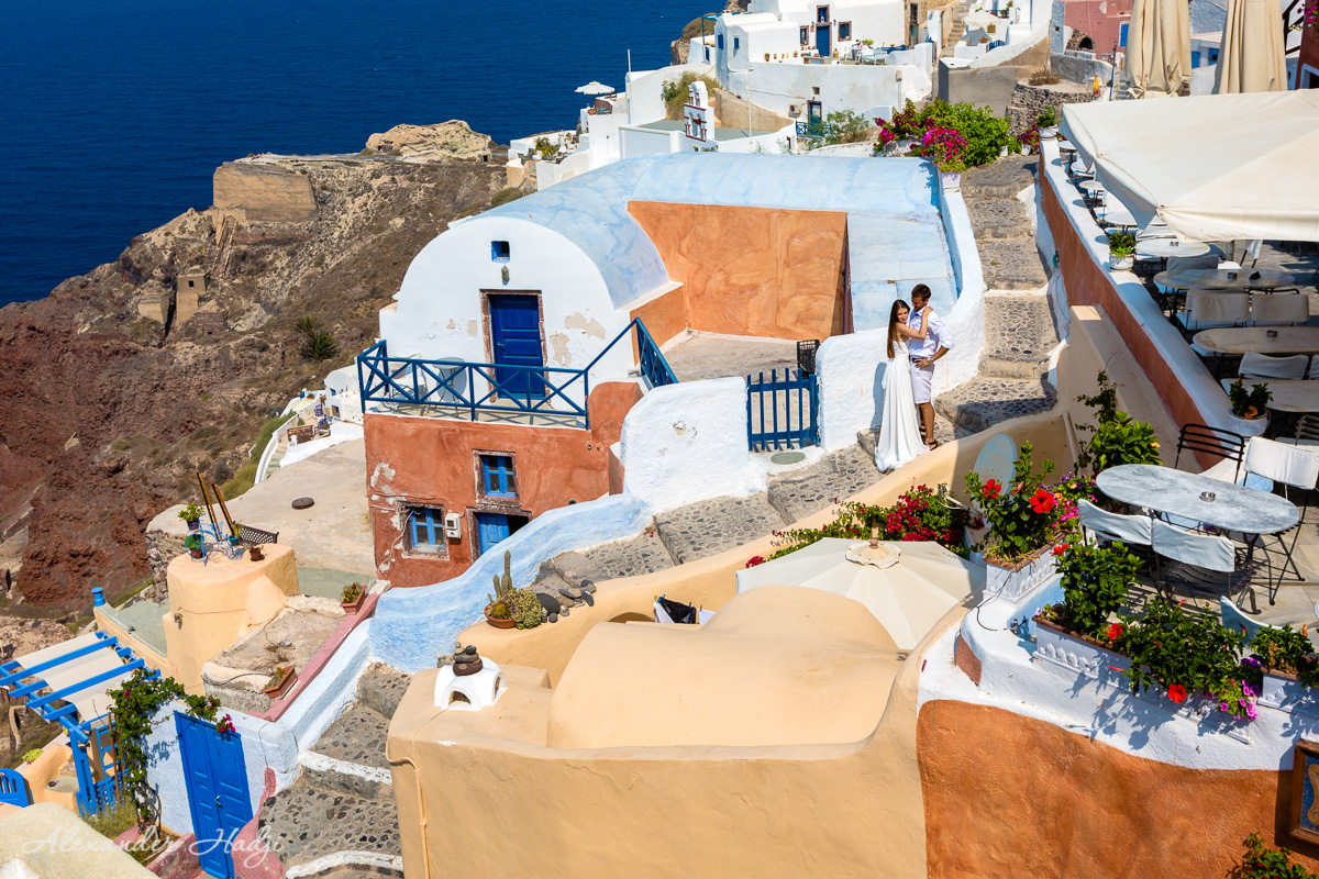 Santorini romantic photography