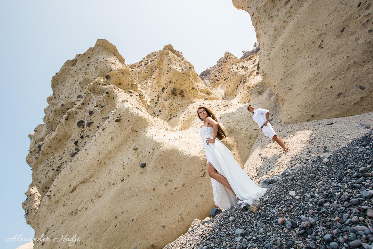 Love story фотосессия на Санторини