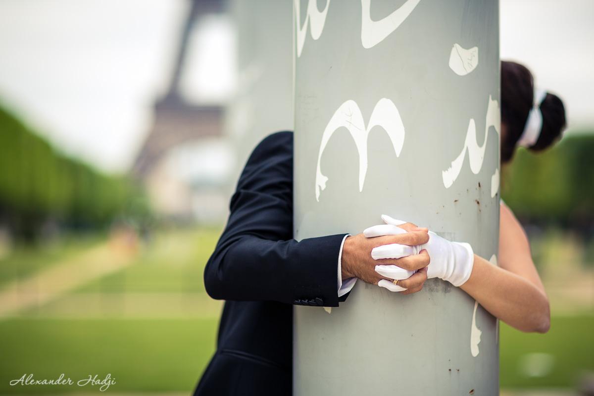 Paris honeymoon photo shoot