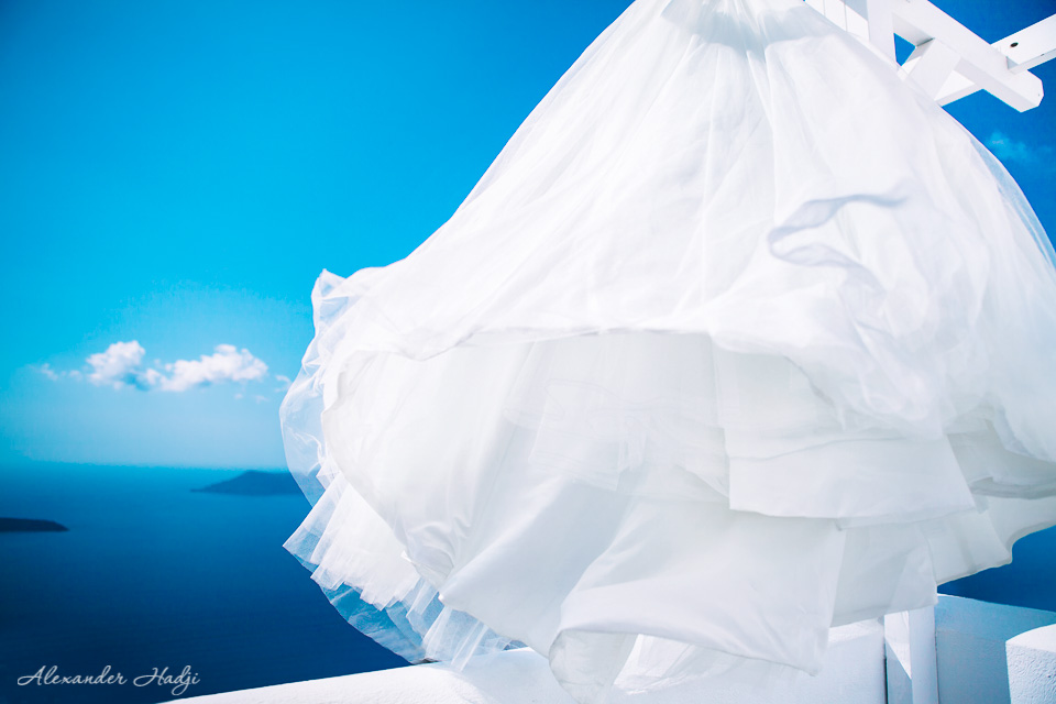Santorini wedding gown