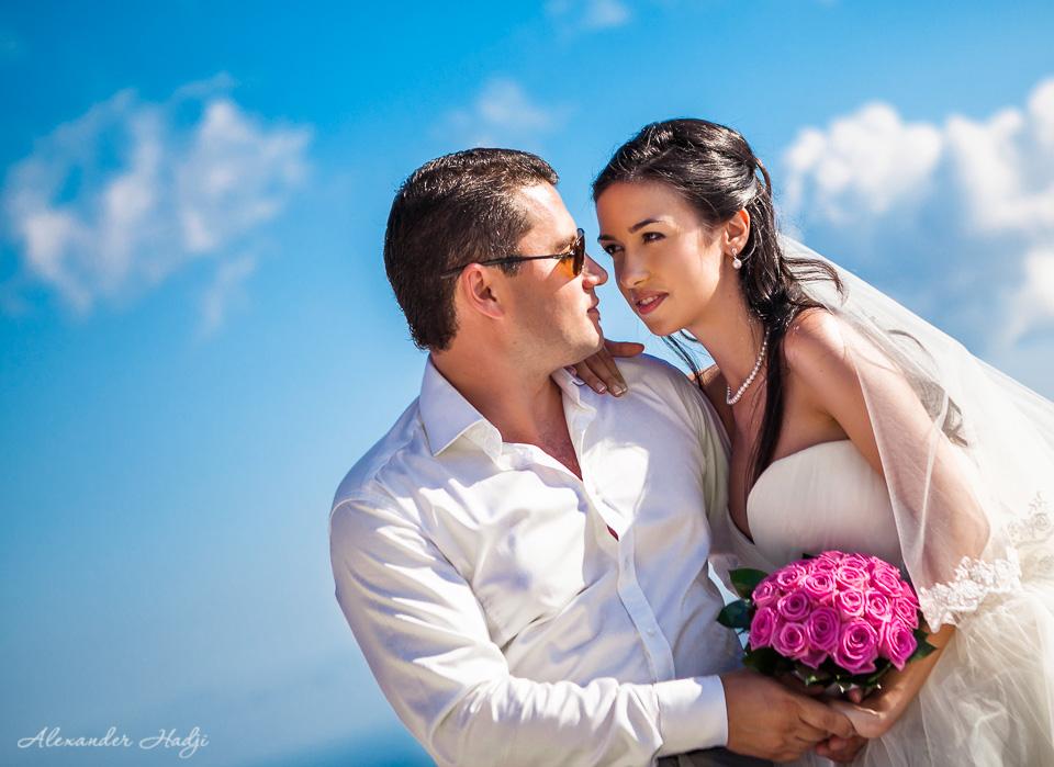 مصور الزفاف في سانتوريني