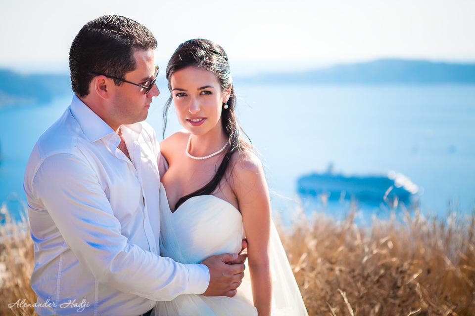 圣托里尼的婚礼摄影师