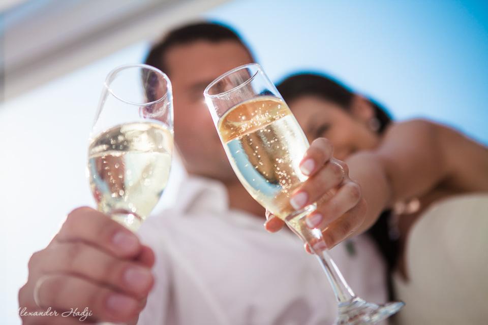 Santorini wedding ceremony photo