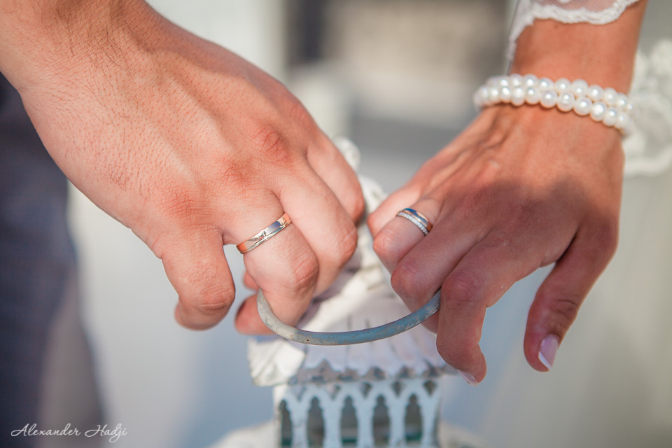 Santorini wedding details