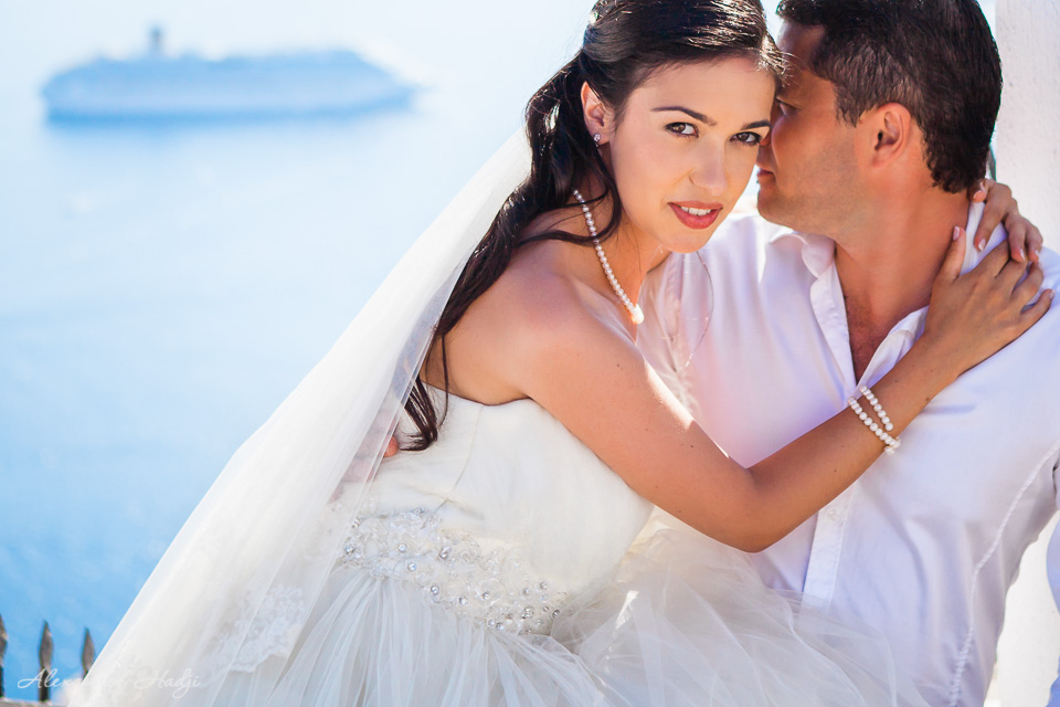 Santorini wedding photo shoot
