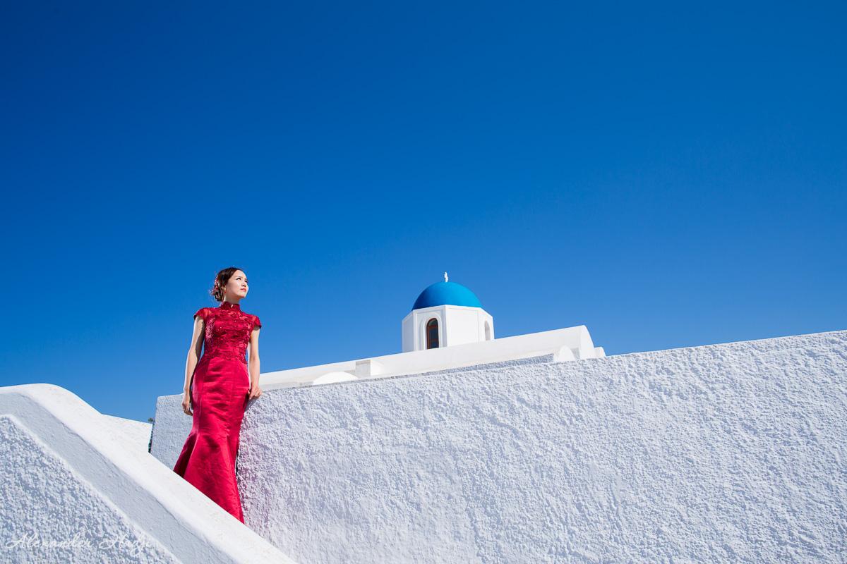 圣托里尼婚纱摄影家