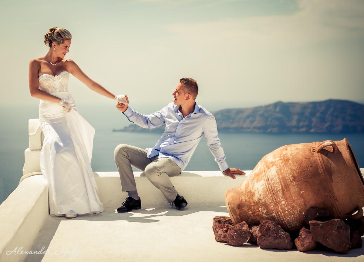 Hochzeitsfotograf auf Santorini