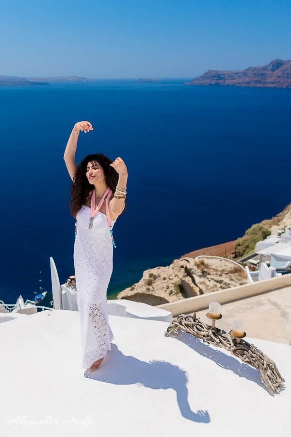 سانتوريني التصوير الفوتوغرافي Santorini portrait photo shoot