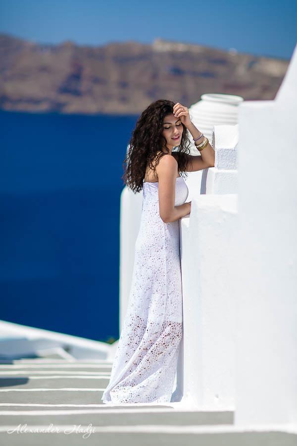 مصور في سانتوريني Santorini portrait photo shoot