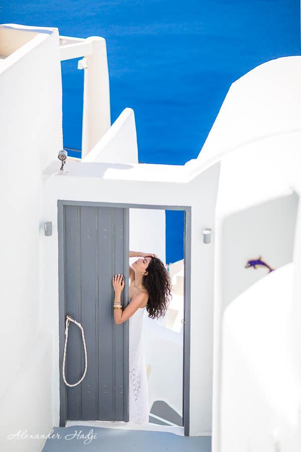مصور في سانتوريني Santorini portrait session