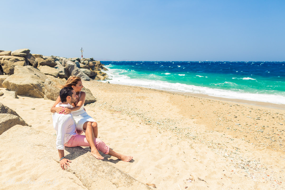 Mykonos engagement photography