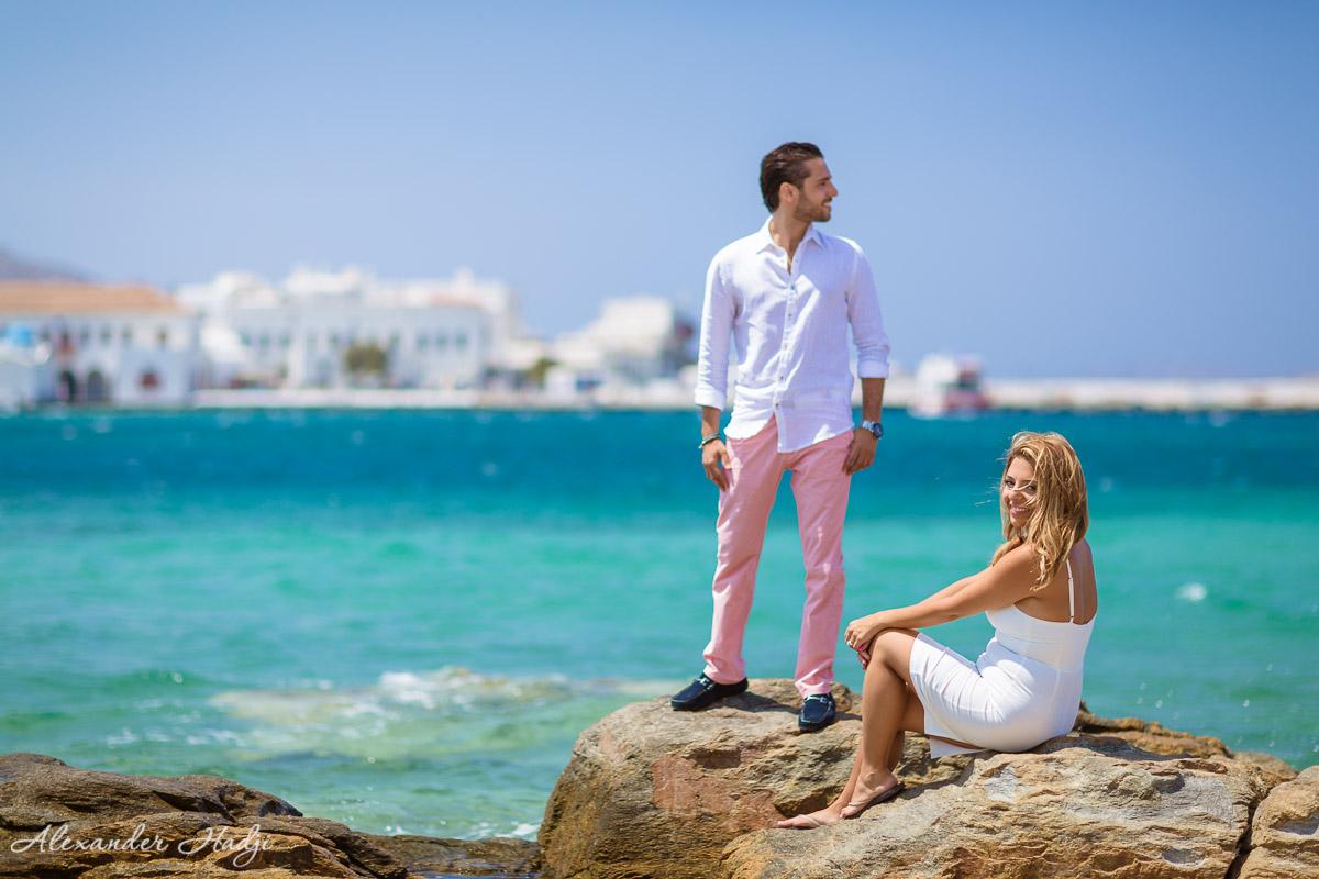 Mykonos photographer 米科诺斯的婚纱照