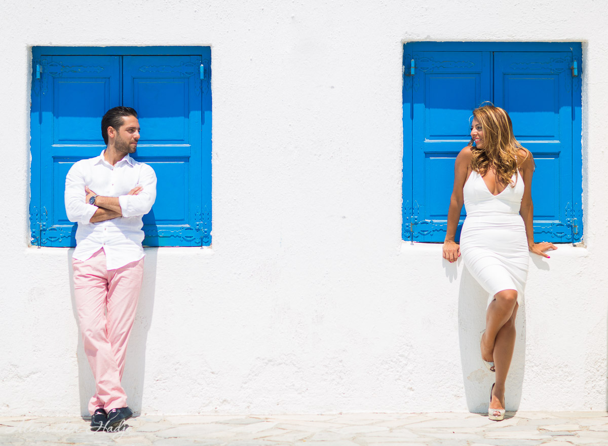 Mykonos pre wedding photo shoot 米科诺斯的婚纱照