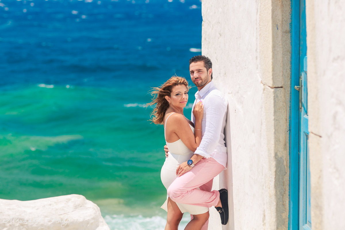 Mykonos pre wedding photo shoot