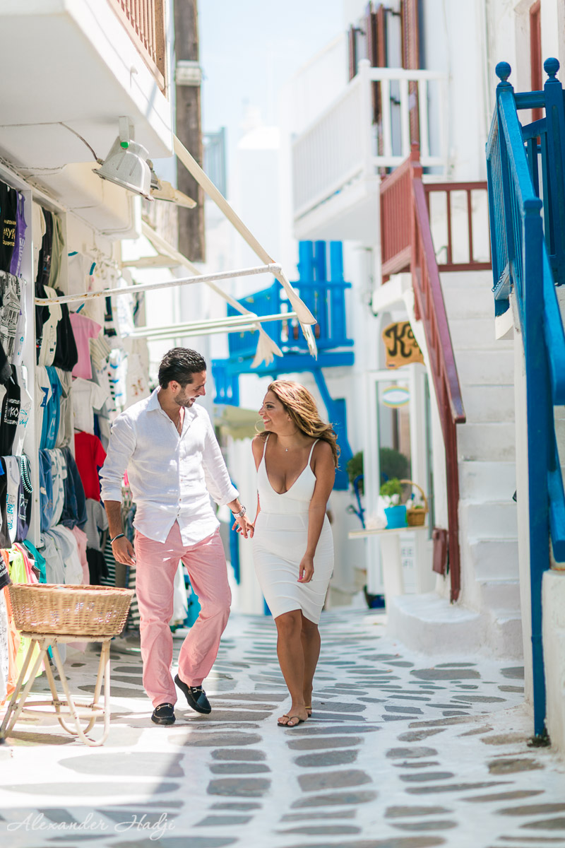 Mykonos engagement photo shoot 米科诺斯的婚纱照