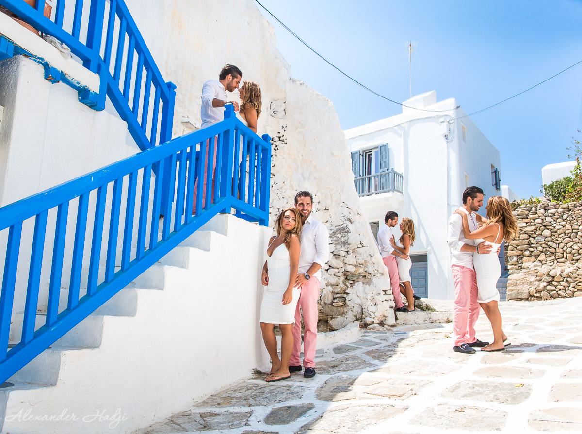 Mykonos pre wedding photo shoot 米科诺斯的婚纱照