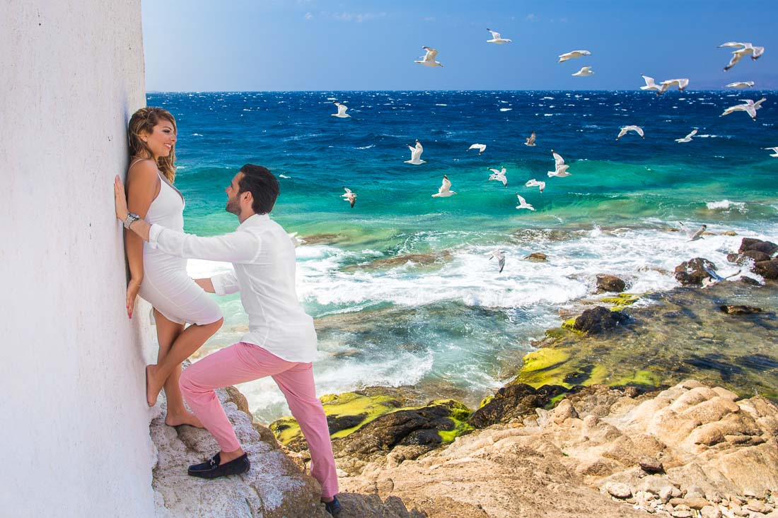 Mykonos honeymoon photo shoot