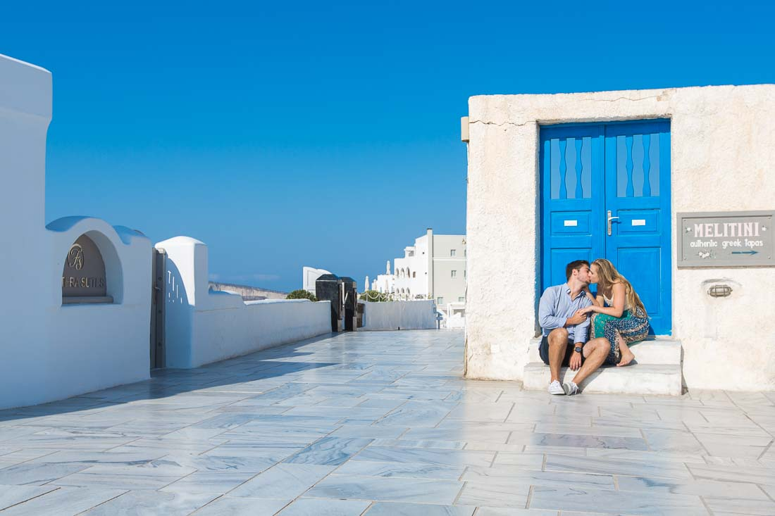 Santorini proposal photo shoot
