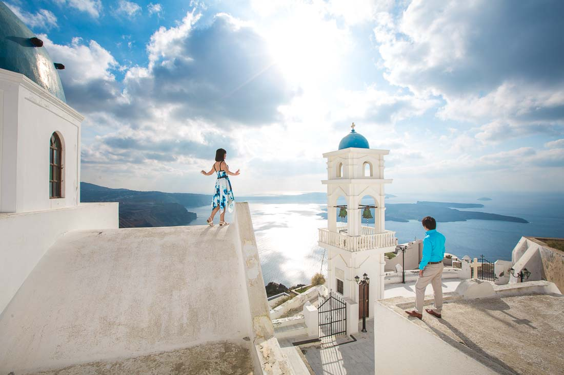 Santorini pre-wedding photography