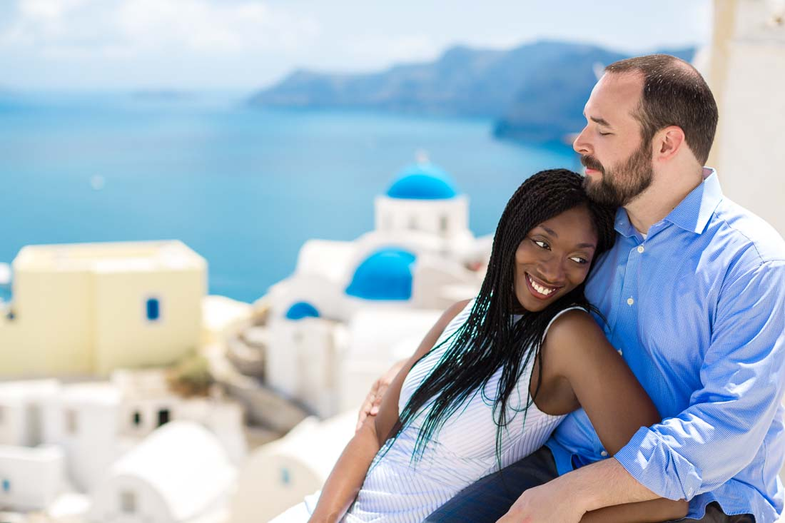 Santorini couple photo shoot