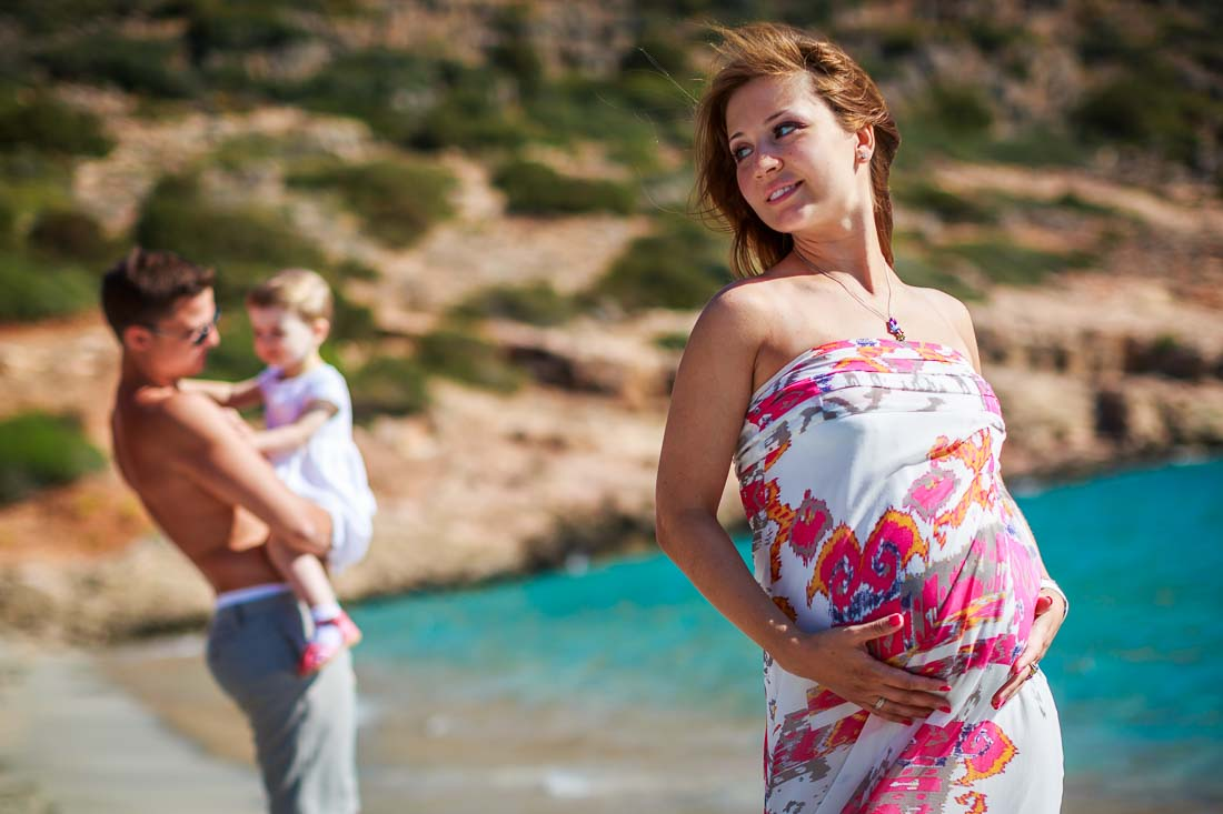 Pregnancy photo shoot Greece
